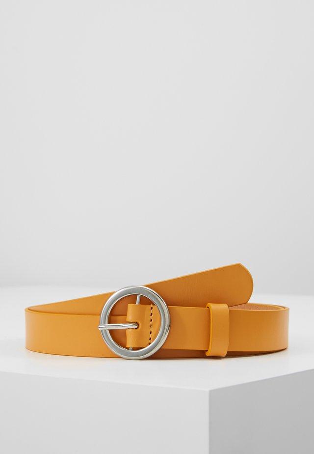 LEATHER - Belt - yellow