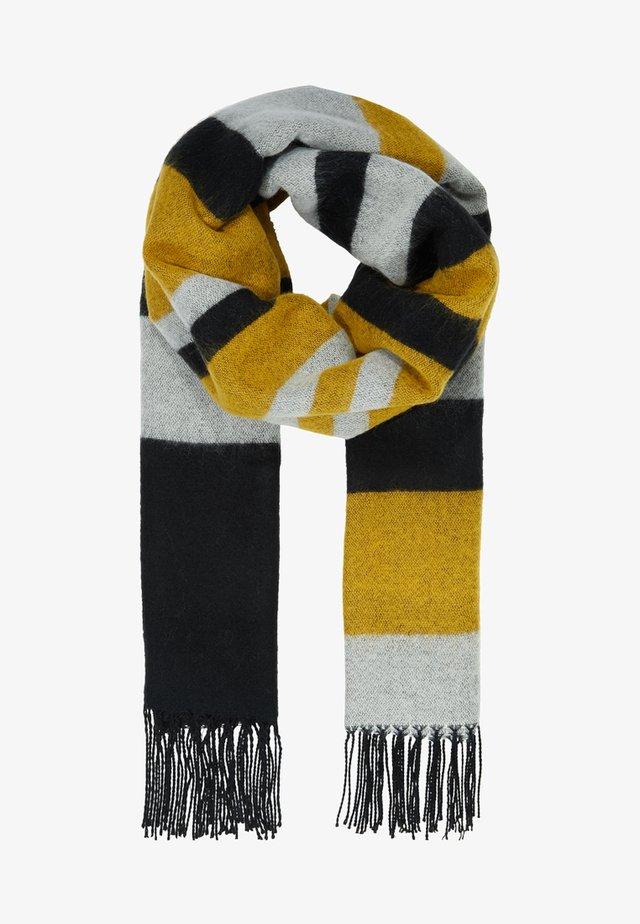 Schal - white/black/yellow