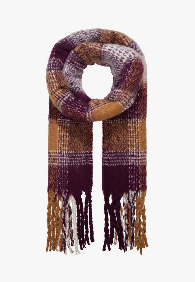 Scarf - mustard yellow/purple