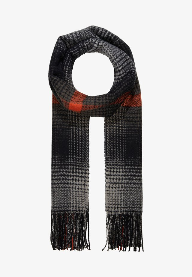 Scarf - black/orange