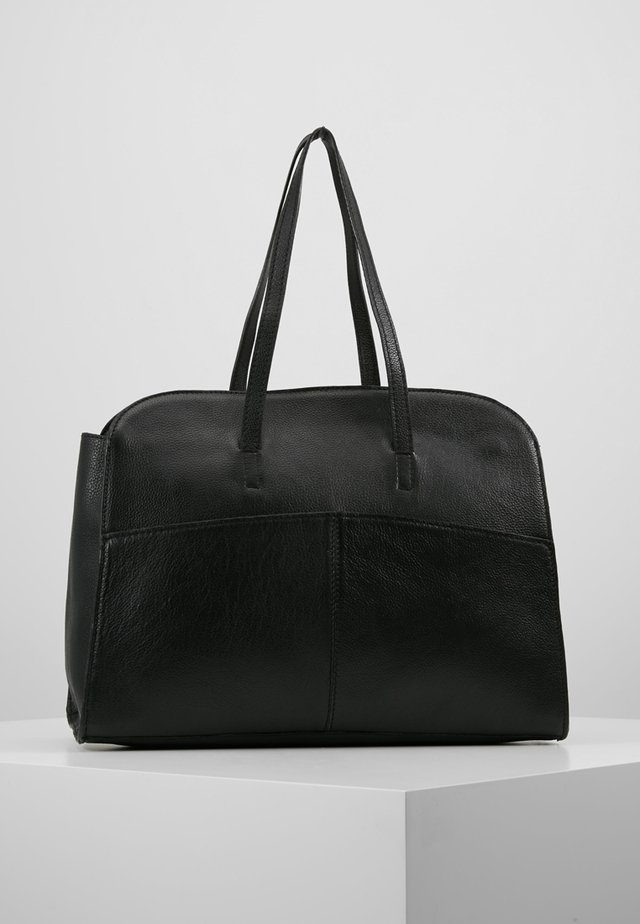 LEATHER - Sac à main - black