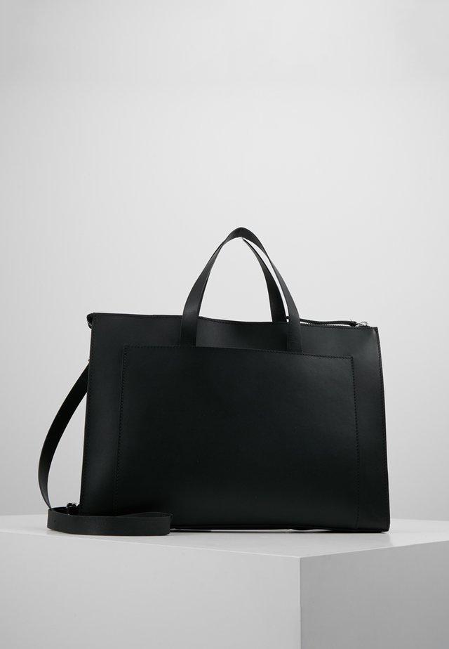 LEATHER - Torba na laptopa - black