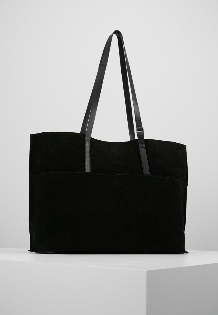 KIOMI - LEATHER - Shopping bags - black