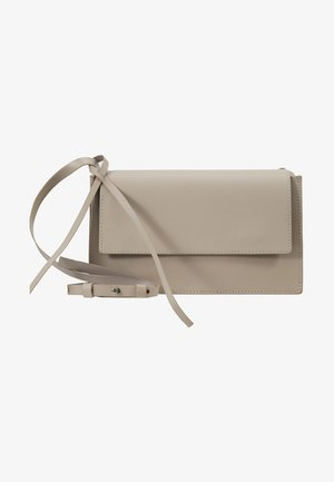 LEATHER - Across body bag - soft taupe