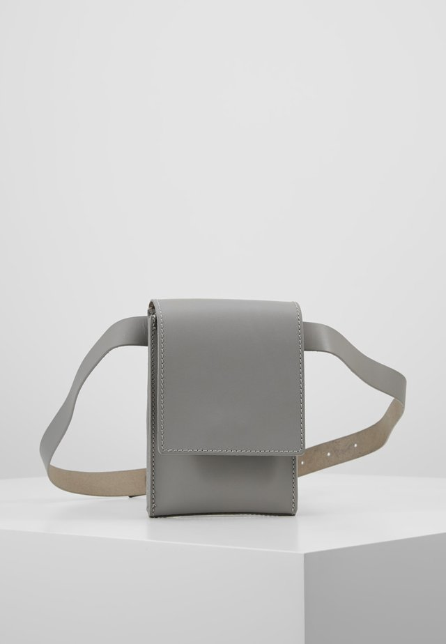 LEATHER - Marsupio - light grey