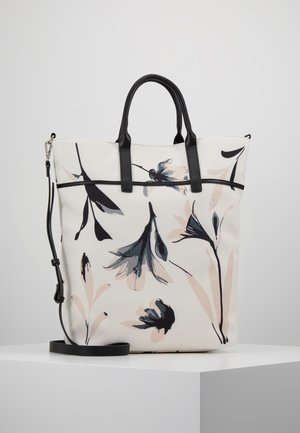 Shopping bag - offwhite/rose/black