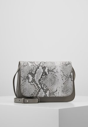 LEATHER - Olkalaukku - light grey