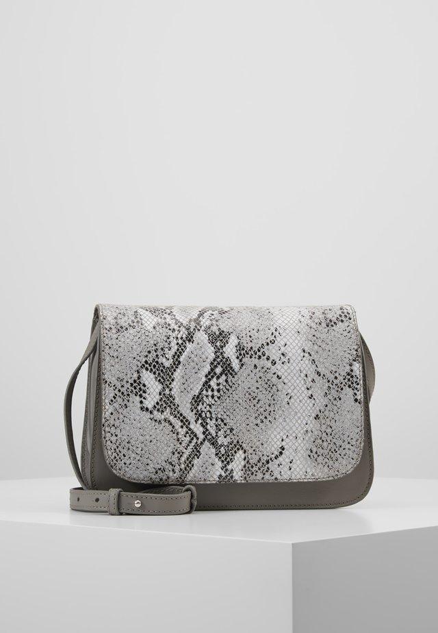 LEATHER - Umhängetasche - light grey