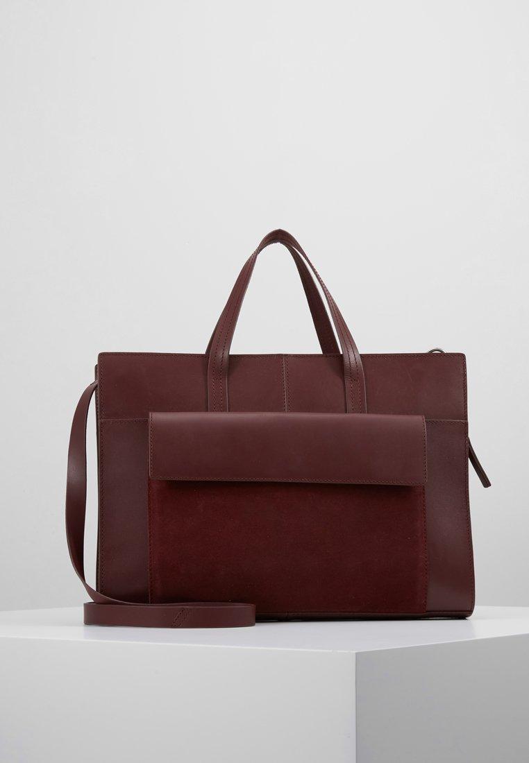 KIOMI - LEATHER - Laptop bag - burgundy