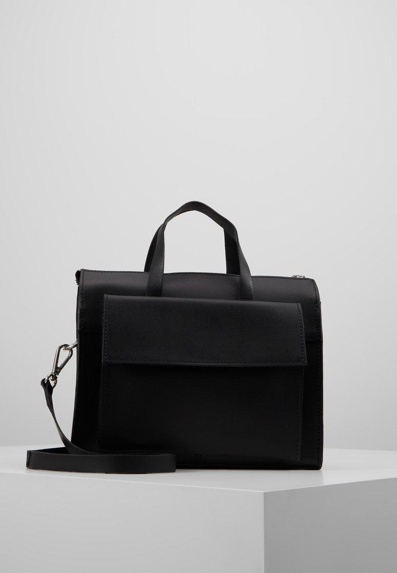 KIOMI - LEATHER - Håndveske - black