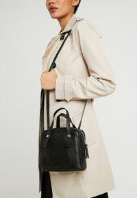 KIOMI - LEATHER - Across body bag - black - 1