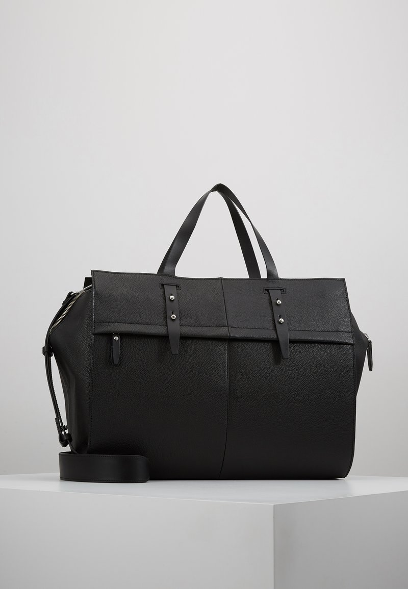 KIOMI - LEATHER - Weekend bag - black