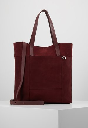 LEATHER - Shopping Bag - burgundy