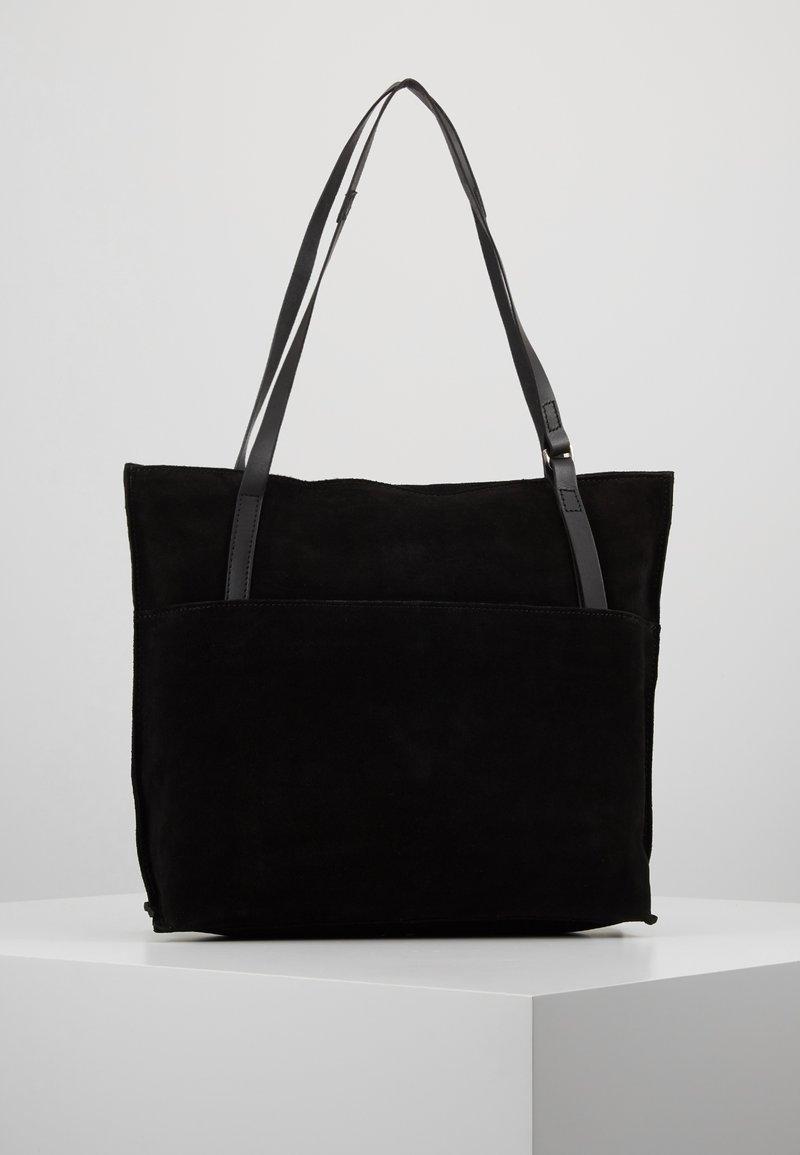 KIOMI - LEATHER - Tote bag - black