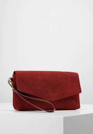 LEATHER - Clutch - cherry