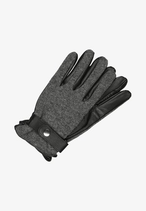 Gloves - black/grey melange