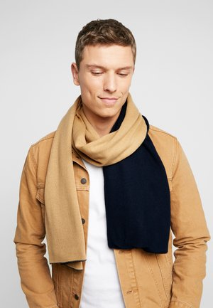 Scarf - dark blue/ camel