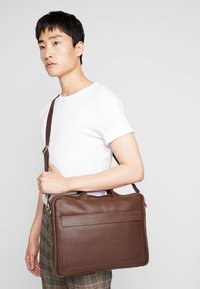KIOMI - LEATHER - Briefcase - dark brown - 1