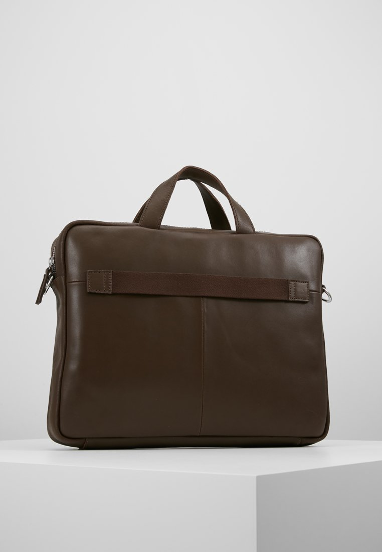 KIOMI - LEATHER - Briefcase - dark brown
