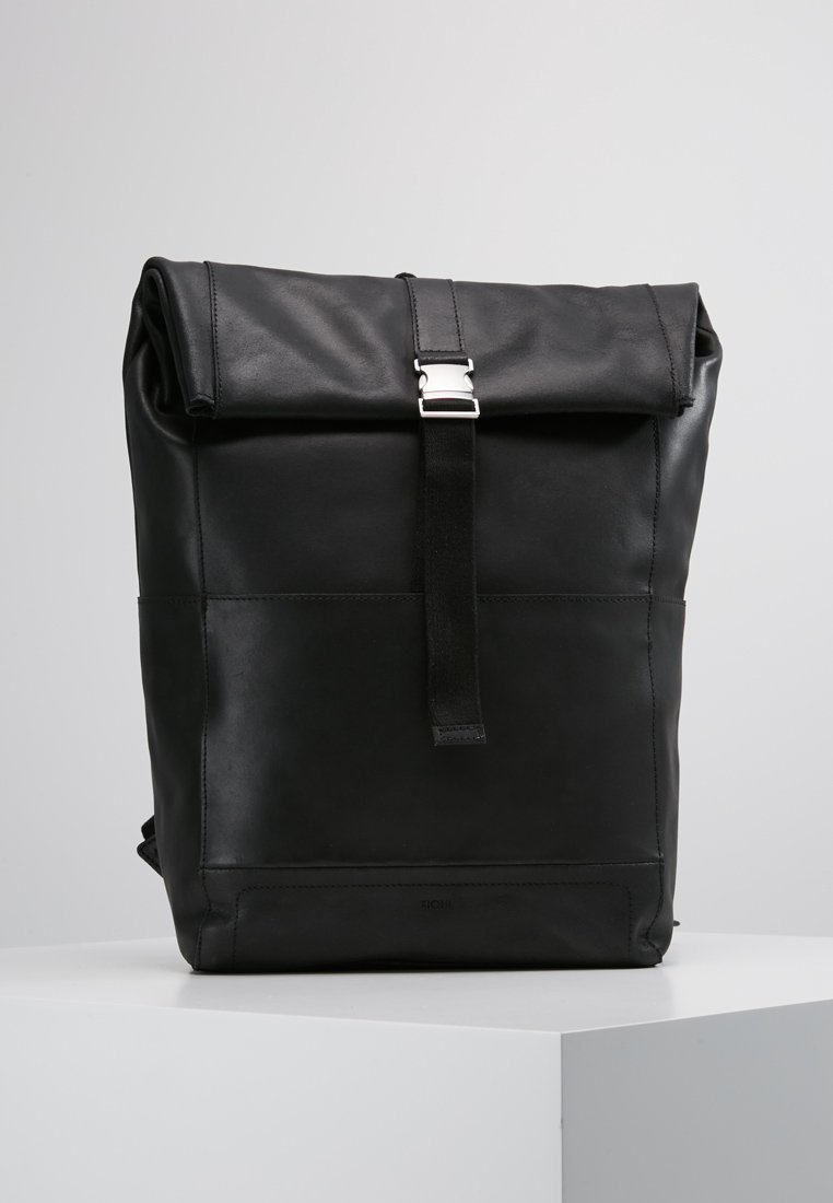 KIOMI - LEATHER - Rucksack - black