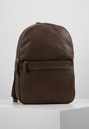 LEATHER - Ryggsekk - dark brown