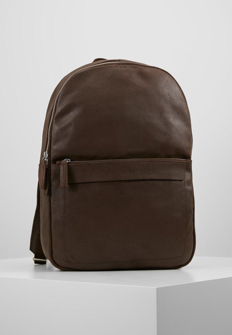 KIOMI - LEATHER - Reppu - dark brown