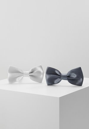 2 PACK - Bow tie - grey/white
