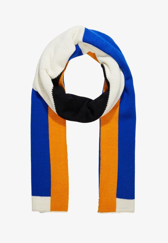 Schal - white/blue/orange