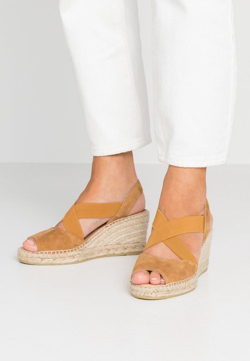 Kanna - ANIA - Platform sandals - cognac