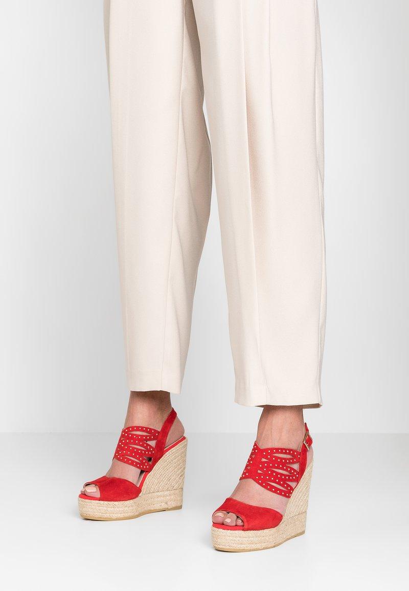 Kanna - SOFIA - Højhælede sandaletter / Højhælede sandaler - rojo