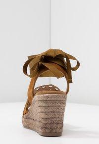 Kanna - LAURA - Platform sandals - cognac - 5