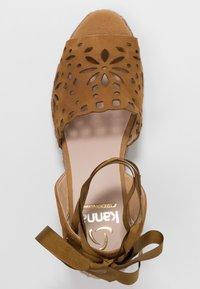 Kanna - LAURA - Platform sandals - cognac - 3