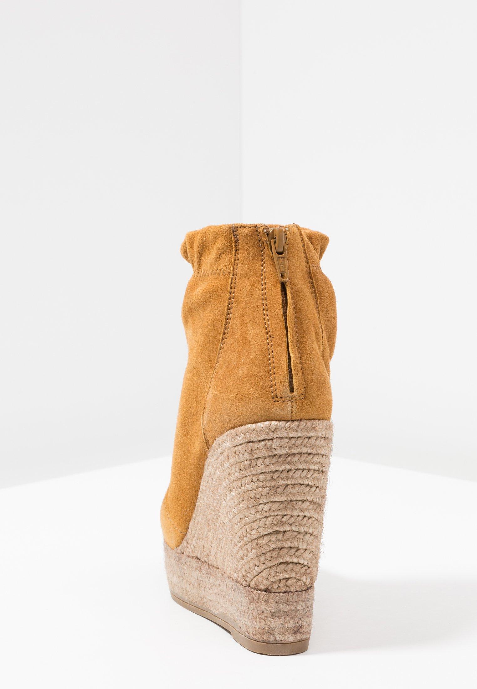 Kanna SOFIA - Højhælede støvletter - cognac