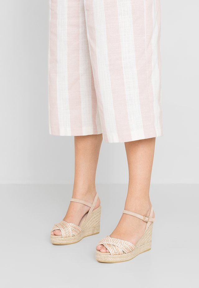 INES - High heeled sandals - natural