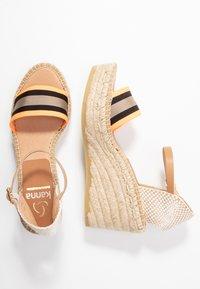 Kanna - CAPRI - Korkeakorkoiset sandaalit - naranja fluor - 3