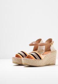 Kanna - CAPRI - Korkeakorkoiset sandaalit - naranja fluor - 4