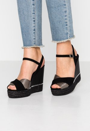 NICOLE - High heeled sandals - black