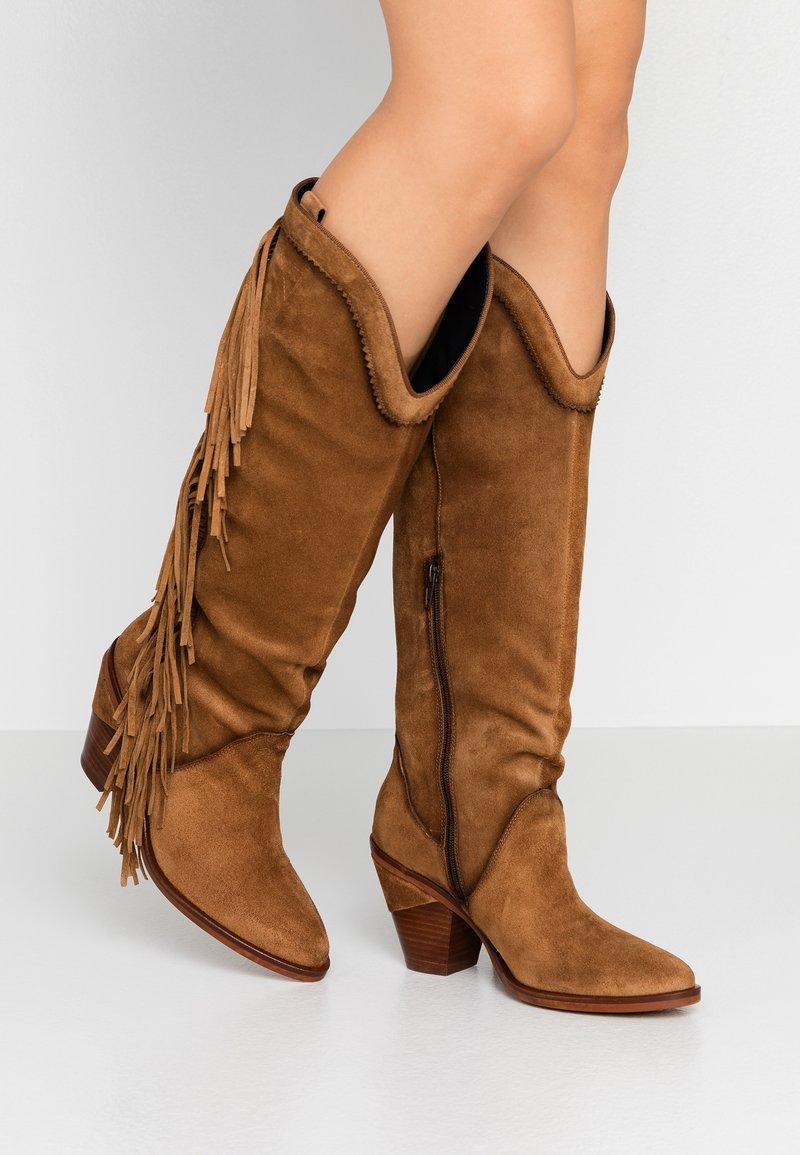 Kanna - SUVA - High heeled boots - COGNAC