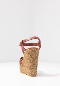 Kanna - SOFIA - Platform sandals - lucido arcilla - 5