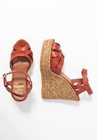 Kanna - SOFIA - Platform sandals - lucido arcilla - 3