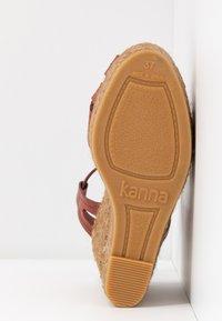 Kanna - SOFIA - Platform sandals - lucido arcilla - 6
