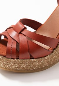 Kanna - SOFIA - Platform sandals - lucido arcilla - 2