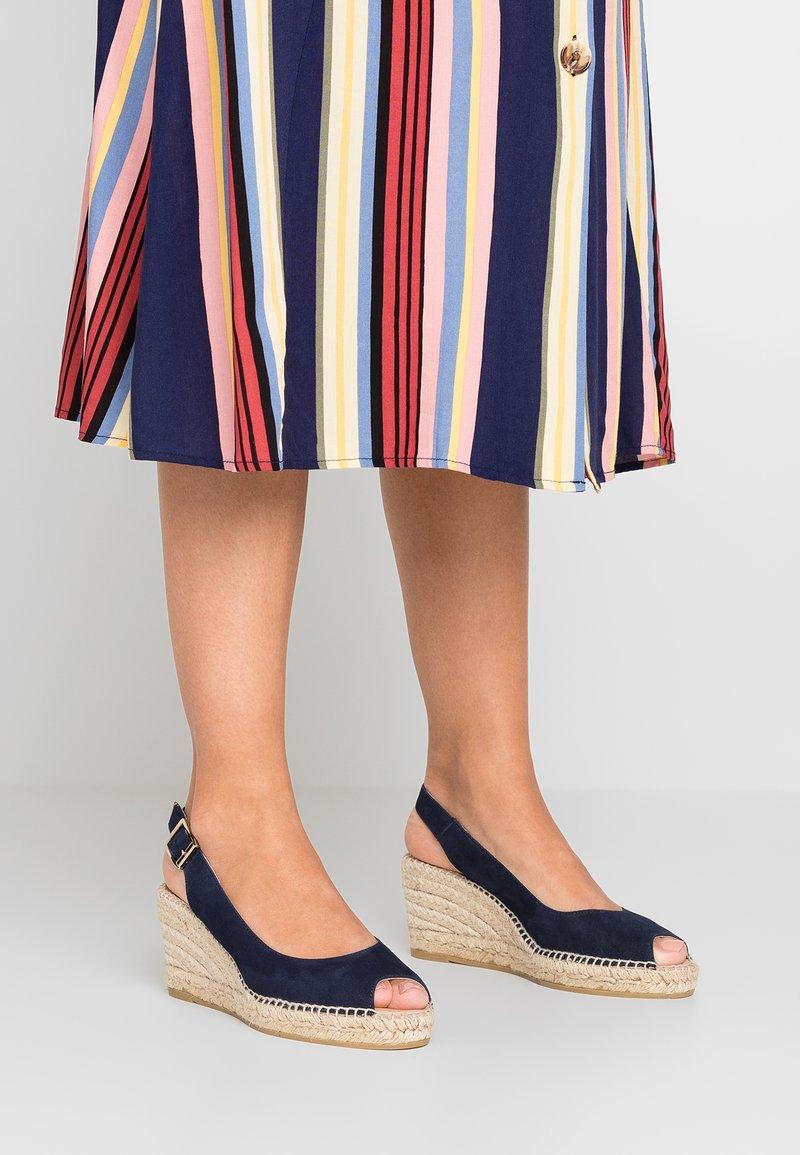 Kanna - BASIC - Platform sandals - marino