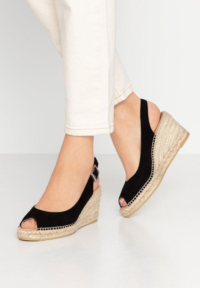 BASIC - Platform sandals - black