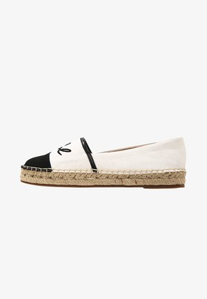 KAMINI SIGNATURE SLIP ON - Espadrilky - white/black