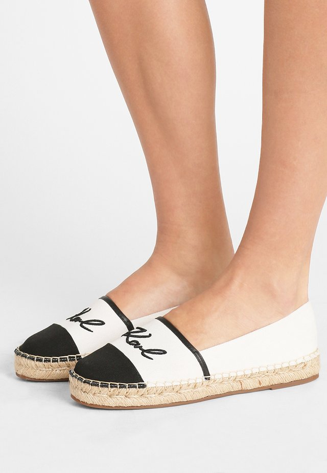 KAMINI SIGNATURE SLIP ON - Espadrilles - white/black