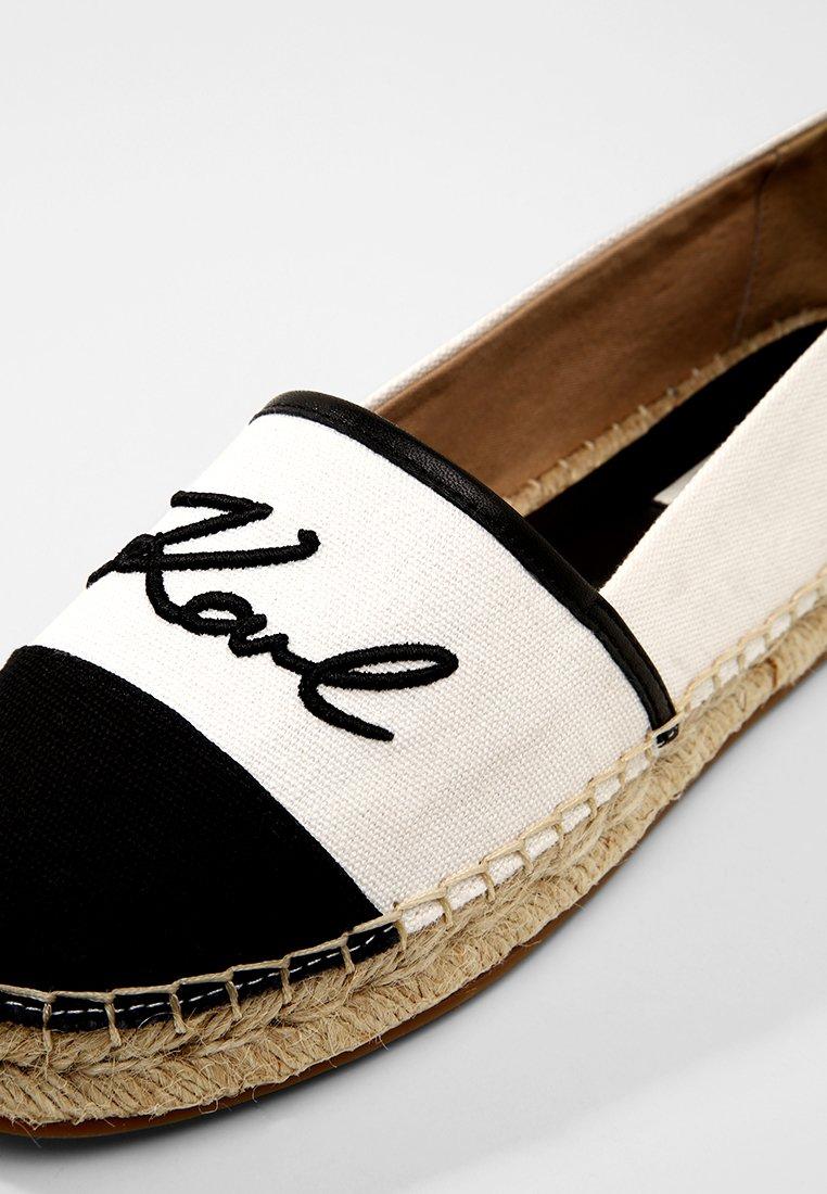 KARL LAGERFELD KAMINI SIGNATURE SLIP ON - Espadryle - white/black