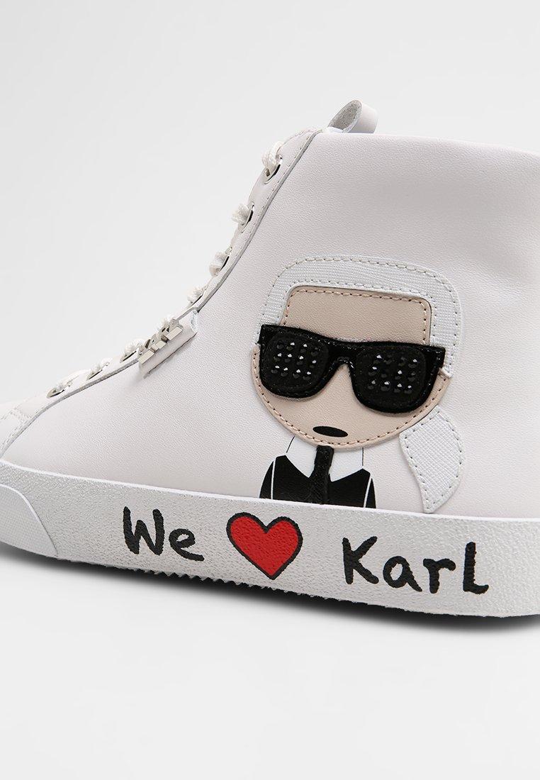 Ikonic Montantes LaceBaskets Skool Lagerfeld White Karl RLqA54j3