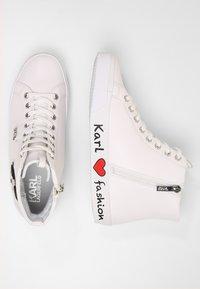 KARL LAGERFELD - SKOOL IKONIC LACE - High-top trainers - white - 3