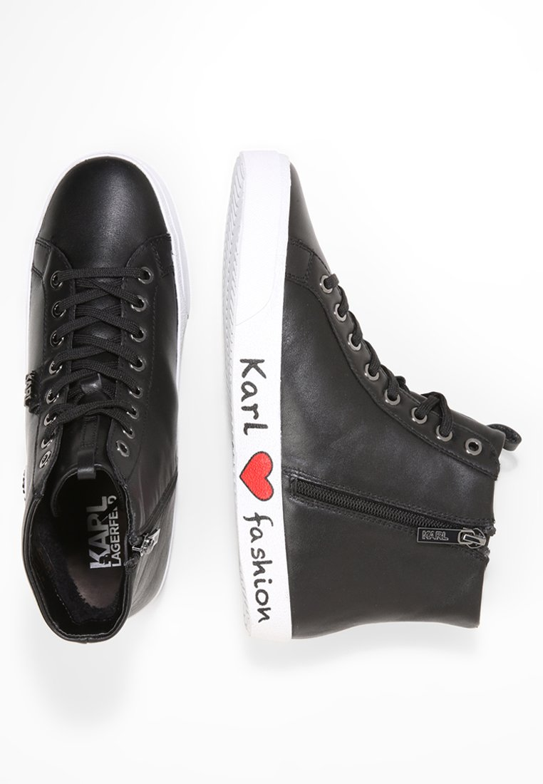 KARL LAGERFELD SKOOL IKONIC LACE - Sneakers alte - black wNn8jim7